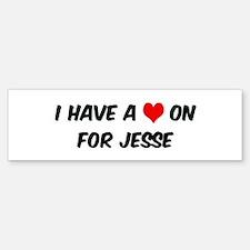 Heart on for Jesse Bumper Bumper Bumper Sticker