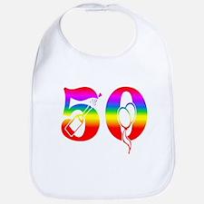 Fun rainbow 50 Bib