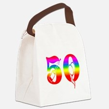 Fun rainbow 50 Canvas Lunch Bag