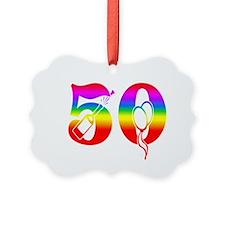 Fun rainbow 50 Ornament