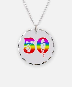 Fun rainbow 50 Necklace
