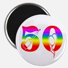 Fun rainbow 50 Magnet