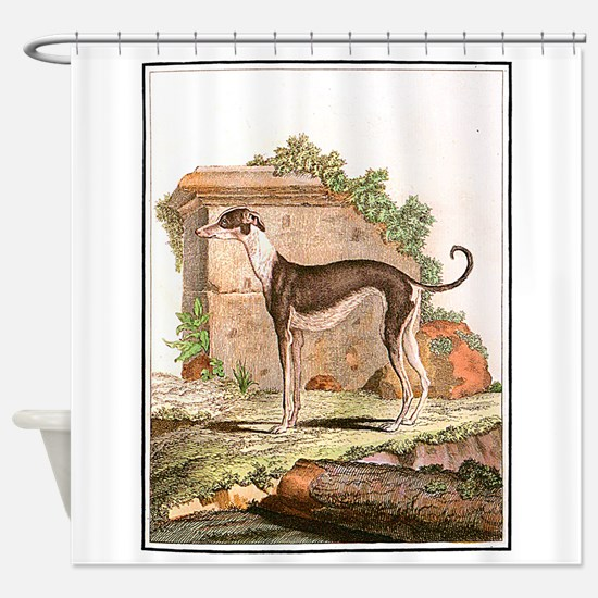 Dog (Greyhound) Shower Curtain
