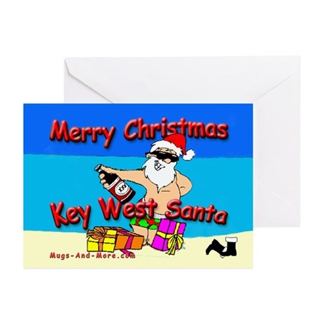 Key West Santa Christmas Cards (Pk of 10)