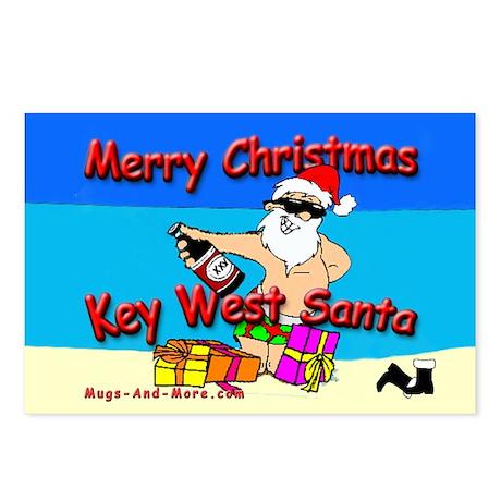 Key West Santa Christmas Postcards (Package of 8)