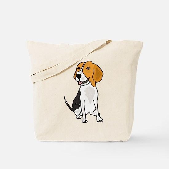 Funny Beagle Puppy Dog Cartoon Tote Bag