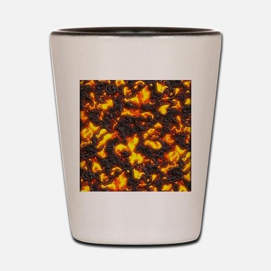 Hot Lava Shot Glass