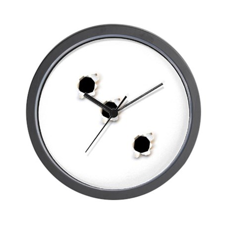 Bullet Holes Wall Clock