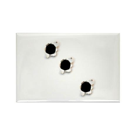Bullet Holes Rectangle Magnet (10 pack)