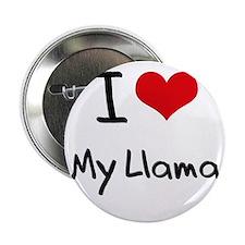 """I Love My Llama 2.25"""" Button"""