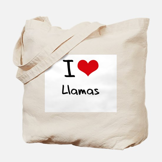 I Love Llamas Tote Bag