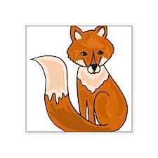 Red Fox Art Sticker