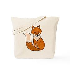 Red Fox Art Tote Bag