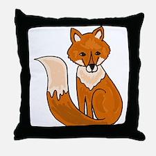 Red Fox Art Throw Pillow