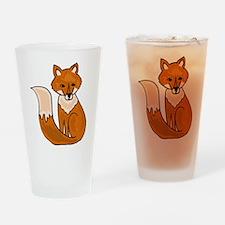 Red Fox Art Drinking Glass
