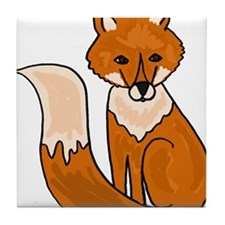 Red Fox Art Tile Coaster