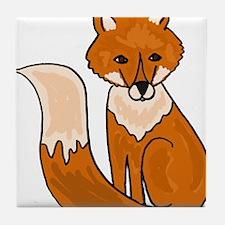 Red Fox Art Tile Coaster