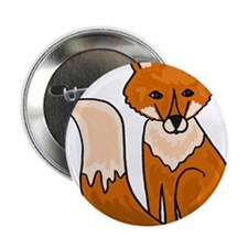 "Red Fox Art 2.25"" Button"