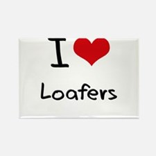 I Love Loafers Rectangle Magnet