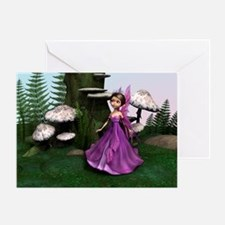 Little Fairy in Woodland Greeting Card