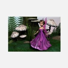 Little Fairy in Woodland Rectangle Magnet