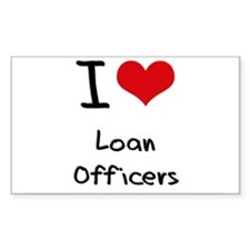 I Love Loan Officers Decal