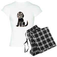 Black Labradoodle Art Pajamas