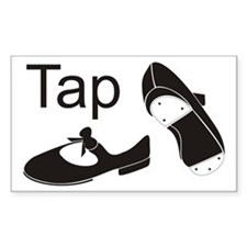 Tap Shoes Rectangle Decal
