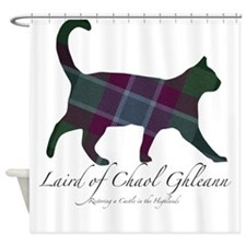 Laird of Chaol Ghleann Cat Shower Curtain