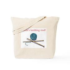 Sarah's Knitting Tote Bag