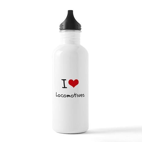 I Love Locomotives Water Bottle