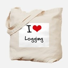 I Love Logging Tote Bag