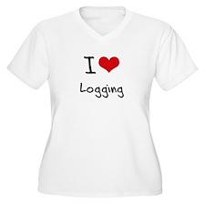 I Love Logging Plus Size T-Shirt