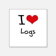 I Love Logs Sticker