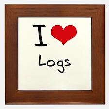 I Love Logs Framed Tile