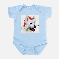 White Shep Christmas Infant Bodysuit
