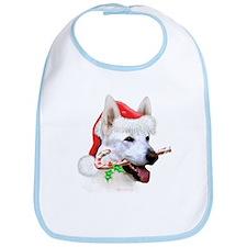 White Shep Christmas Bib