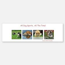 All Dog Sports, All the Time! Bumper Bumper Bumper Sticker