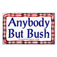 Anybody But Bush Rectangle Sticker