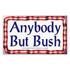 Anybody But Bush Rectangle Decal