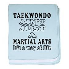 Taekwondo Martial Arts Designs baby blanket