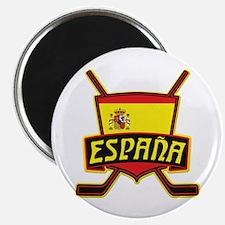 Spain Ice Hockey Shield Magnet
