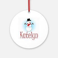Snowman - Katelyn Ornament (Round)