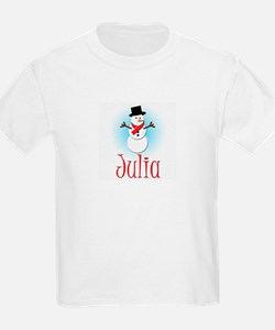 Snowman - Julia Kids T-Shirt