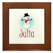 Snowman - Julia Framed Tile