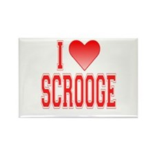 I love Scrooge Rectangle Magnet