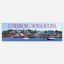Lunenburg Harbour Scene 1 Bumper Bumper Bumper Sticker