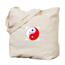 Balance The USA Red White and Blue Yin Yang Tote B