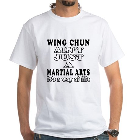 Wing Chun Martial Arts Designs White T-Shirt