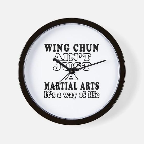 Wing Chun Martial Arts Designs Wall Clock